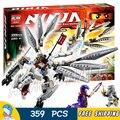 359 Шт. Бела 10323 Titanium Дракон Ниндзя Zane Мастера Кружитцу Строительный Блоки Игрушки Совместимы С Lego