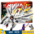 359Pcs Bela 10323 Titanium Dragon Zane Ninja Masters of Spinjitzu Building Blocks Toys Compatible With Lego