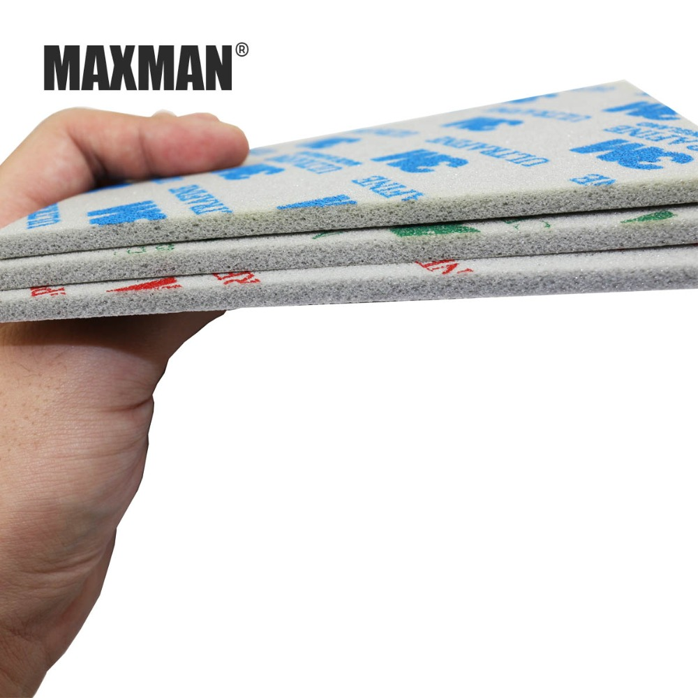 Купить с кэшбэком MAXMAN 3 Piece 3m Sponge Sandpaper 600# 800# 1000# Grinding and Polishing Wire Drawing Abrasive Tool Accessories Hand Polished