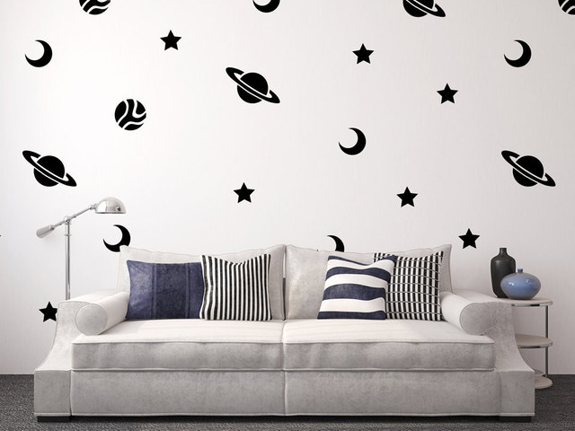 giant full wall adventure wall decal space nursery boy wall decor