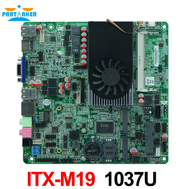 Motherbaord with one lan AIO Motherboard Celeron 1037U mini itx motherboard m945m2 945gm 479 motherboard 4com serial board cm1 2 g mini itx industrial motherboard 100