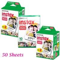 Genuine 20pcs Box Fujifilm Fuji Instax Mini White Film 50 Sheet Instant Photo Paper For