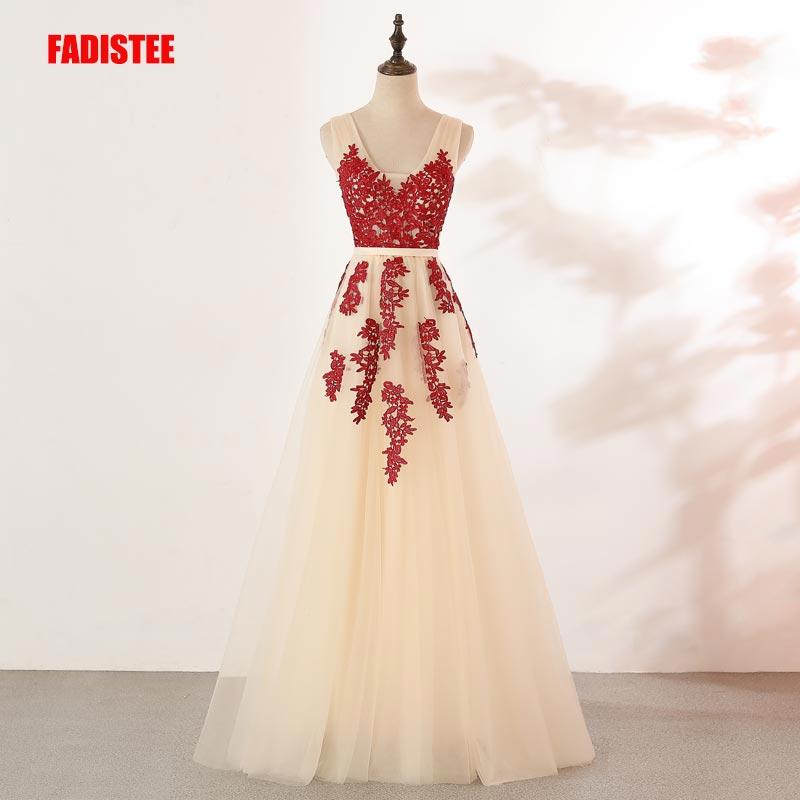 Robe De Soriee New Simple Wedding Dress Full Sleeve Lace: FADISTEE New Arrival Evening Elegant Prom Dresses Vestido