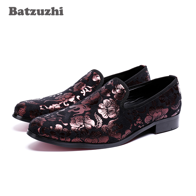 Handmade Leather Men Loafers Batzuzhi Brand 2018 Design Soft Leather Shoes Men Loafers Shoes Flats Genuine Leather Dress Shoes joseph