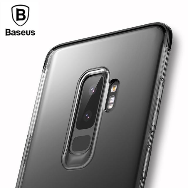 Baseus Samsung Galaxy S9 S9 Plus Luxury Shockproof Transparent Armor Back Case Cover