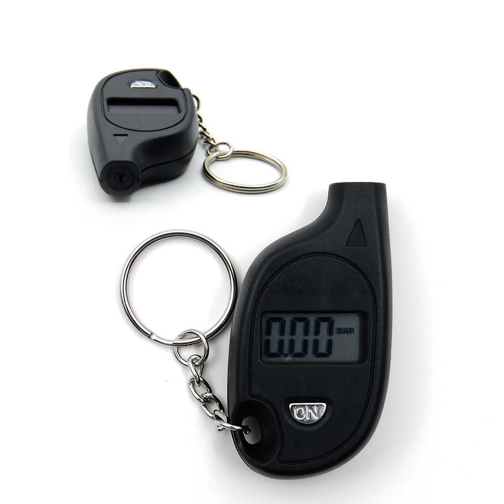 Mini LCD cyfrowy brelok do opon manometr do samochodów Auto motocykl