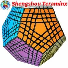 Shengshou Teraminx 큐브 7x7 Wumofang 7x7x7 매직 큐브 전문 12 면체 큐브 트위스트 퍼즐 교육 완구
