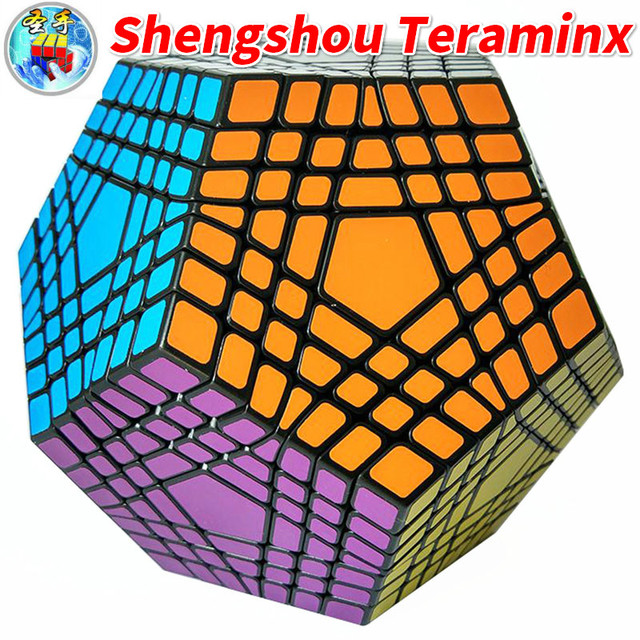 Shengshou Teraminx Cube 7x7 Wumofang 7x7x7 Magic Cube Professional Dodecahedron Cube Twist Puzzle Educational Toys