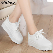 Canvas shoes woman 2016 zapatos mujer fashion casual shoes women's spring autumn new platform women shoes ladies solid color