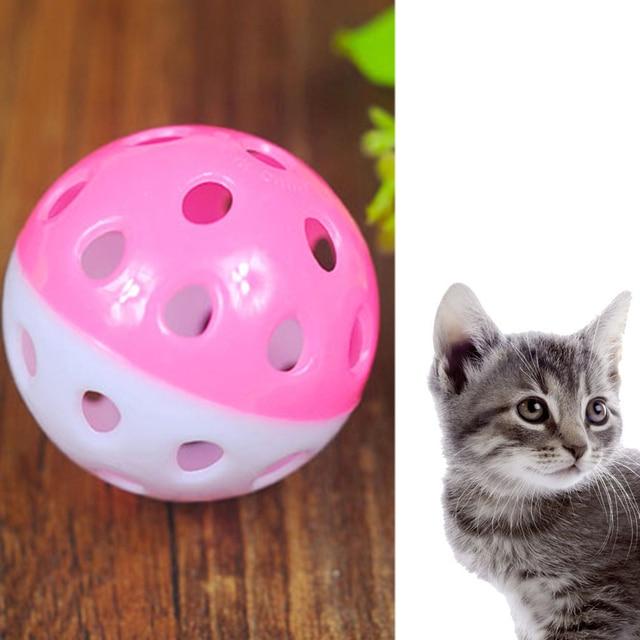 TINGHAO di Plastica del Cucciolo del Gatto Rotondo Giocare A Palla con Campana B