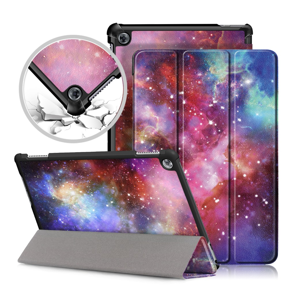 PU Leather case For Huawei MediaPad M5 Lite 10 10.1 BAH2-W19/L09/W09 Tablet Smart Cover Case for huawei M5 lite Case silicone with bracket flat case for huawei mediapad m5 8 4 inch