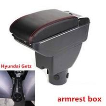 Для hyundai Getz подлокотник коробка hyundai Getz Автомобильный Универсальный центральный подлокотник коробка для хранения чашка пепельница Модификация аксессуары