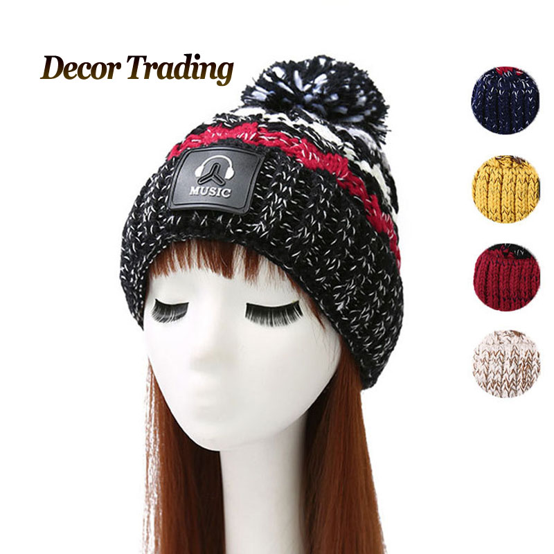 NEW Velvet Knitted Hat Women Autumn Winter Hat For Women Hat Fashion Warm Skullies Beanies Female Cap Free Shipping