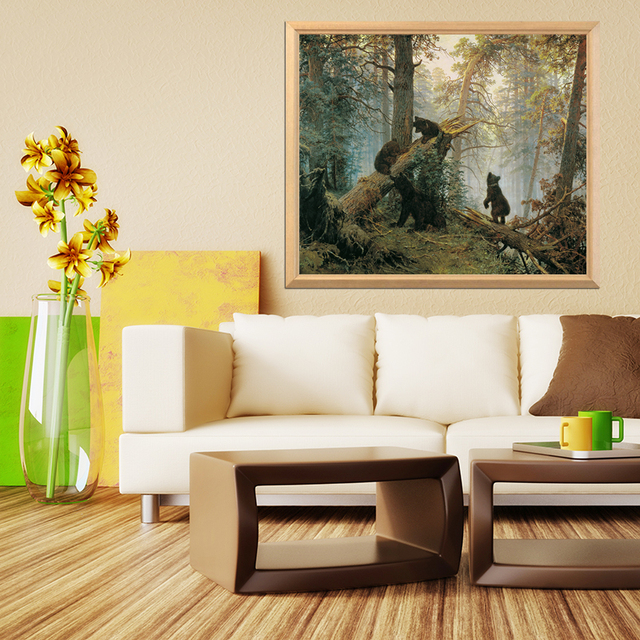 Russia Famous Painter Shishkin Morning in a Pine Forest 5D DIY Diamond Painting Full Square and