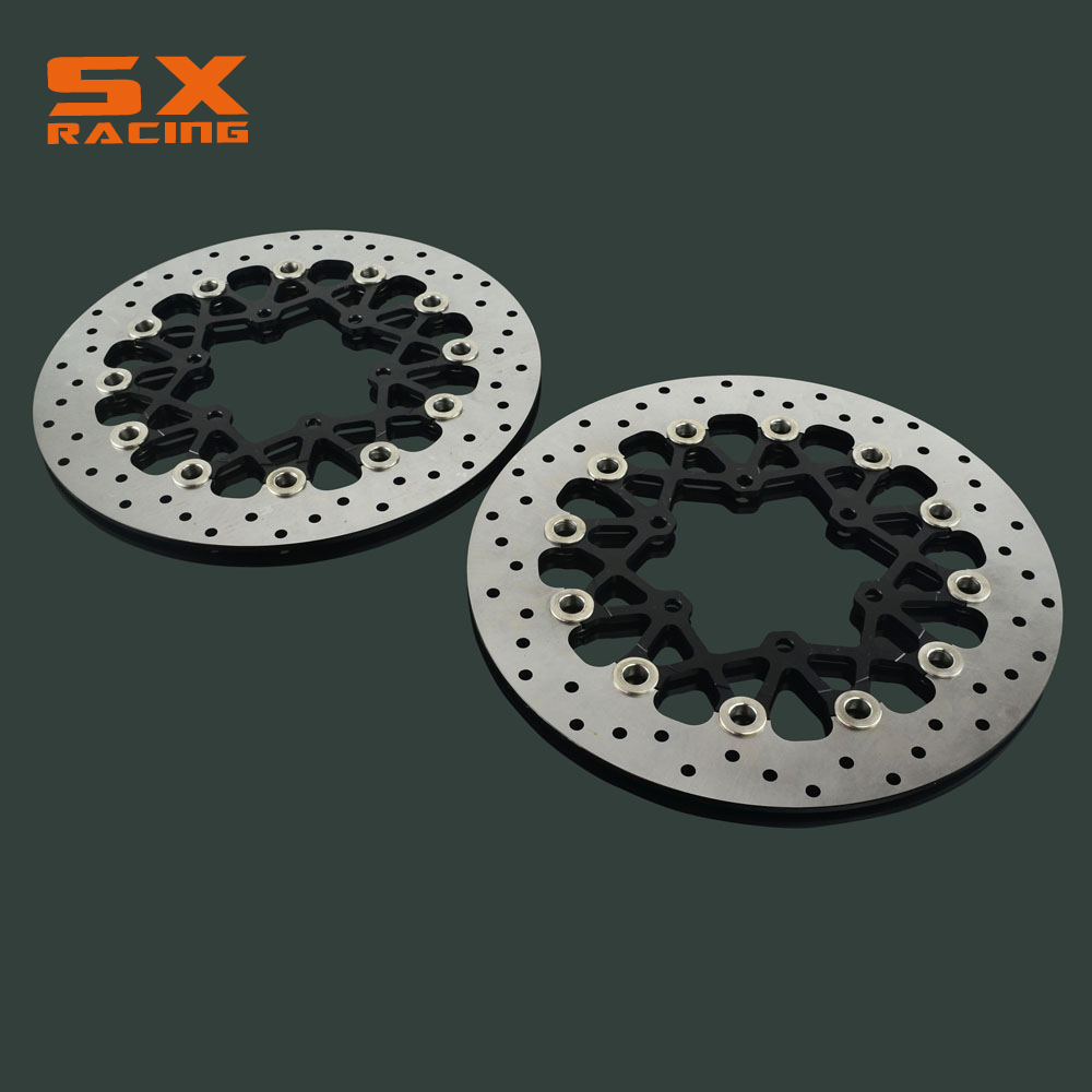 Motorcycle 310mm Front Floating Brake Disc Rotor 2 PCS For SUZUKI GSXR600 GSXR 600 GSXR750 GSXR 750 2008-2014 GSXR1000 2009-2014 front brake disc rotor for suzuki gsxr1000 abs 2015 up gsx r1000 non abs 2009 up gsxr600 gsxr750 2008 up gsx r600 gsx r750
