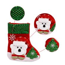 4Pcs/lot 2016 Hot Sale Christmas Stocking Sequins Socks Shining Xmas Tree Oranment Gift Bag Santa