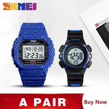 4701faf7eae6 Azul del reloj SKMEI reloj deportivo Casual hombres relojes digitales  hombre cronómetro fecha semana hora montre homme reloj con los niños reloj  de 1471 de ...