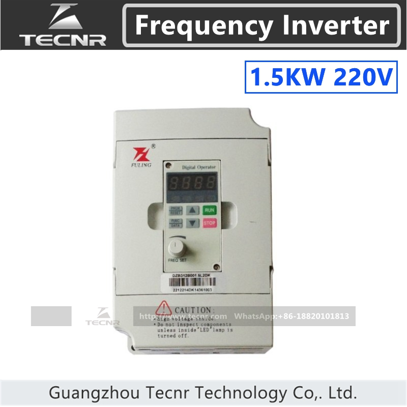 Fuling 1.5KW  frequency inverter 220V for 800W 1.5KW cnc spindle motor water cooling spindle sets 1pcs 0 8kw er11 220v spindle motor and matching 800w inverter inverter and 65mmmount bracket clamp