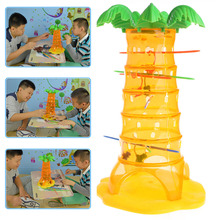 1Set Falling Monkey Skill Action Puzzle Game Children Family Fun DIY Game Toy chair joy stacked music puzzle game toy action fun family lucky balance gift for children s day piles up indoor activities