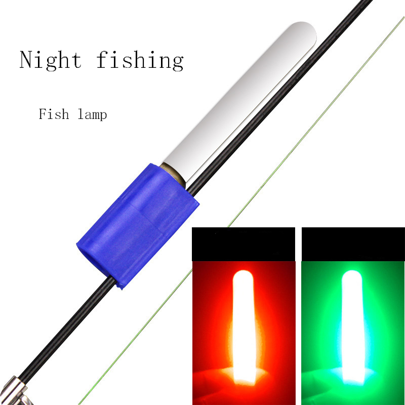 Licht Stick Wasserdichte Leuchtende <font><b>Led</b></font> Angelrute Nacht Elektronische <font><b>Lampe</b></font> Zubehör Luminous Removable Meer Float Durable Rock image