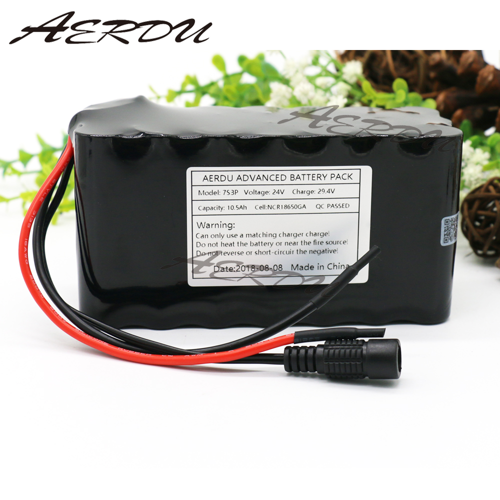 AERDU 7S3P 29.4V 24V 10.5Ah FOR NCR18650GA Li-ion Battery Pack Electric Unicycles Scooters light bicycle wheelchair with BMS 7s3p 24v 10 5ah 29 4v ncr18650ga li ion battery pack lithium batteries for small electric motor bicycle ebike scooter with bms