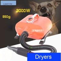 3000F большой барабан для кошки собаки собака кошка сушилка с двойным двигателем волос нагнетателя воздуха для ухода за 3000 Вт быстро сушка в 10