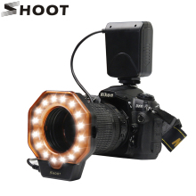 SHOOT LED Macro Ring Свет для Nikon D5100 D3100 D7000 D3 D2 D70 D300 Серии Canon 5D Mark II 7D 10D D400 1000D Camera свет