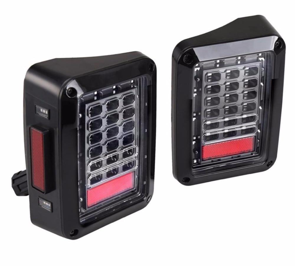 2шт новейший США и европейская версия LED стоп-сигнал LED поворота Обратный Лампа 12V светодиодный задний фонарь задний фонарь Сид для Виллиса JK