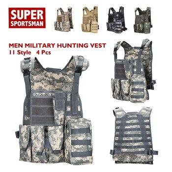 3d7ccd5ac44 Los hombres camuflaje equipo militar táctico del ejército chalecos de  combate caza uniforme Airsoft francotirador equipo de camuflaje Swat  Ghillie trajes de ...