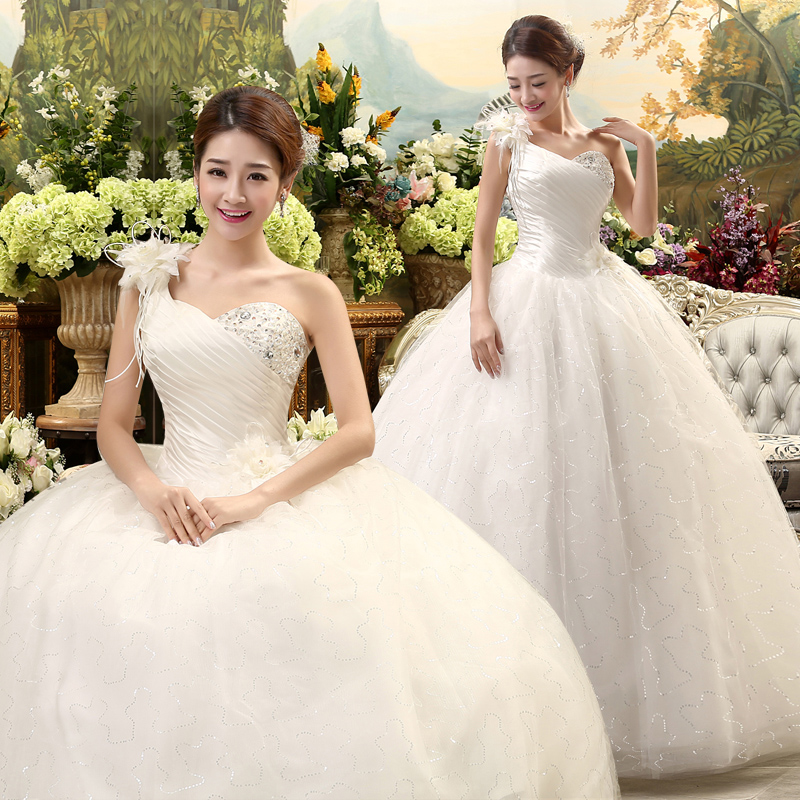 2017 New Stock Plus Size Women Pregnant Bridal Gown Wedding Dress One Shoulder Flowers Long Sweetheart Sexy White Lace Bling 4r