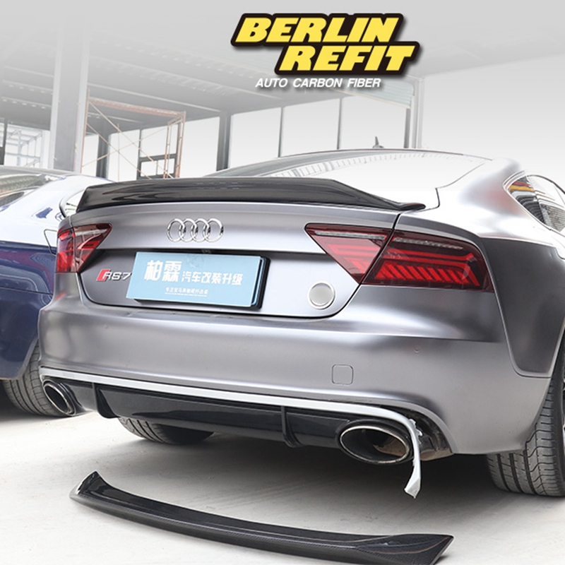 Carbon Fiber CAR REAR WING TRUNK LIP SPOILER FOR AUDI A7 S7 RS7 2013 2014 2015 2016 (karztec style) carbon fiber rear spoiler trunk boot wing for audi a7 s7 s line 2012 2015 jc style car tuning parts