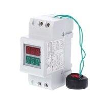 2P 36mm Din Rail Dual LED Voltage Current Meter Voltmeter Ammeter AC 80-300V\/ 250-450V 0-100A