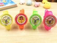 Круглый цвет часы мультфильм часы-игрушка Творческий детский браслет подарок для малышей питания маленькая игрушка