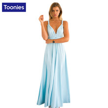Summer Sexy Dress Women Red Blue Beach Long Bandage Multiway Convertible Dresses Elegant Wrap Robe Maxi Dress Wrap Vestidos 2017