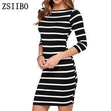 ZSIIBO robe Femmes Col Rond De Mode noir ...