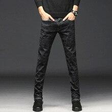2018 г. Летняя мужская новые джинсы Мужская Корейская версия Тонкий тонкий срез Штаны Простые Модные длинные штаны прилив РД
