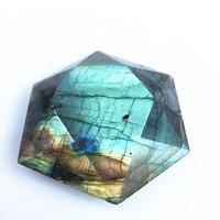 Natural Labradorite carved star of David Rock crystal spiritual Reiki Healing