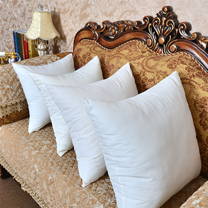 1pc 45*45cm White polyester Square Sleep Cushion Insert Decorative <font><b>Pillows</b></font> Insert Form Vacuum compression package
