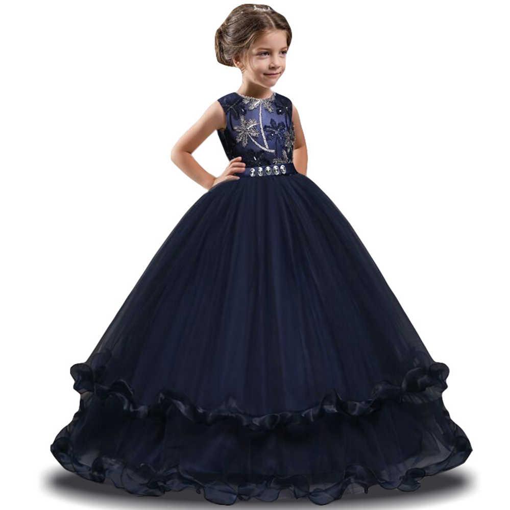 9c8ced72687c8 Teen Girl Party Dresses Kids Princess Dress Flower Wedding Dress Teenage  Fancy Children Costume 5 6 7 8 9 10 11 12 Year
