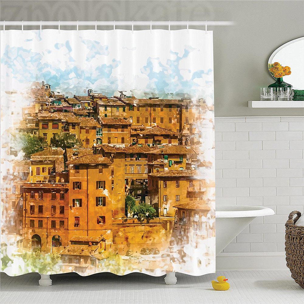Tuscan Photo of Historical Italian Town with Old Traditional ...