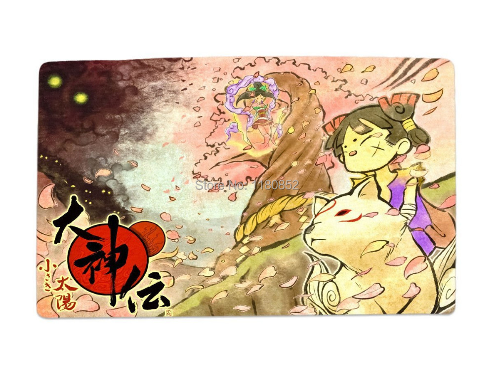 Ookami Okami Game Characters Gaming Desk Mouse Pad Table Play Mat