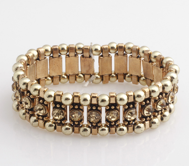 Fashionable Elastic Bangles Gold bangle Alloy Rhinestones bangles Fashion jewelry wholesale S232