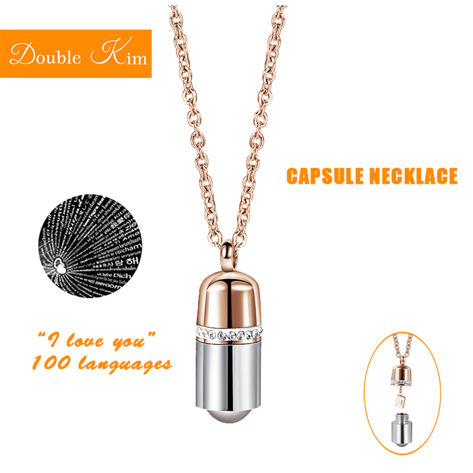Fashion Women Love Heart Titanium Steel Bear Necklace Adjustable Pendant Jewelry
