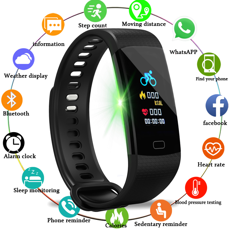 BANGWEI Smart Uhr Frauen Männer Sport Uhr Lauf Klettern Reiten Multi-Funktion Schrittzähler Herz Rate blutdruck monitor + box
