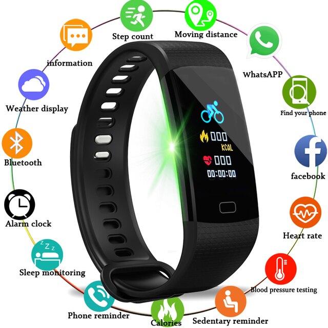 BANGWEI Smart Watch Women Men Sport Watch Running Climbing Riding Multi-Function Pedometer Heart Rate Blood pressure monitor+Box