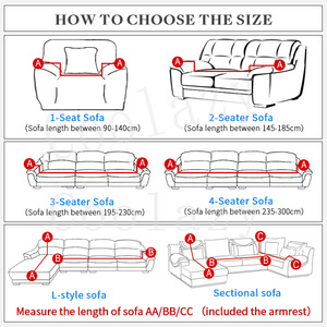 Image 2 - stretch sofa cover set 1/2/3/4 seater elastic couch cover sofa covers for living room pets slipcover chair sofa towel funda sofa