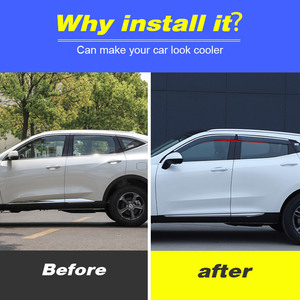 Image 2 - Vtear Voor Haval F7 F7X Window Visor Auto Regenkap Deflectors Luifel Trim Cover Exterieur Auto Styling Accessoires Onderdelen 2019