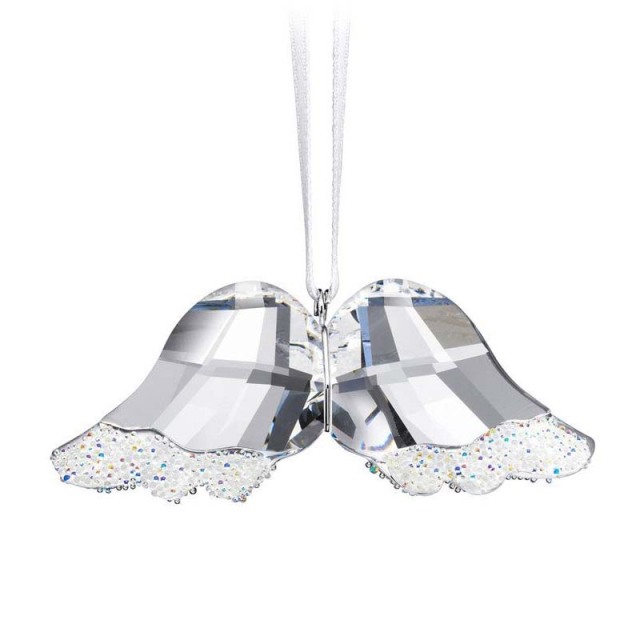 Bling Bling Clear Crystal Glass Angel Wing Crystal Craft Hang Decoration  Christmas Ornament Home Decor DEC173