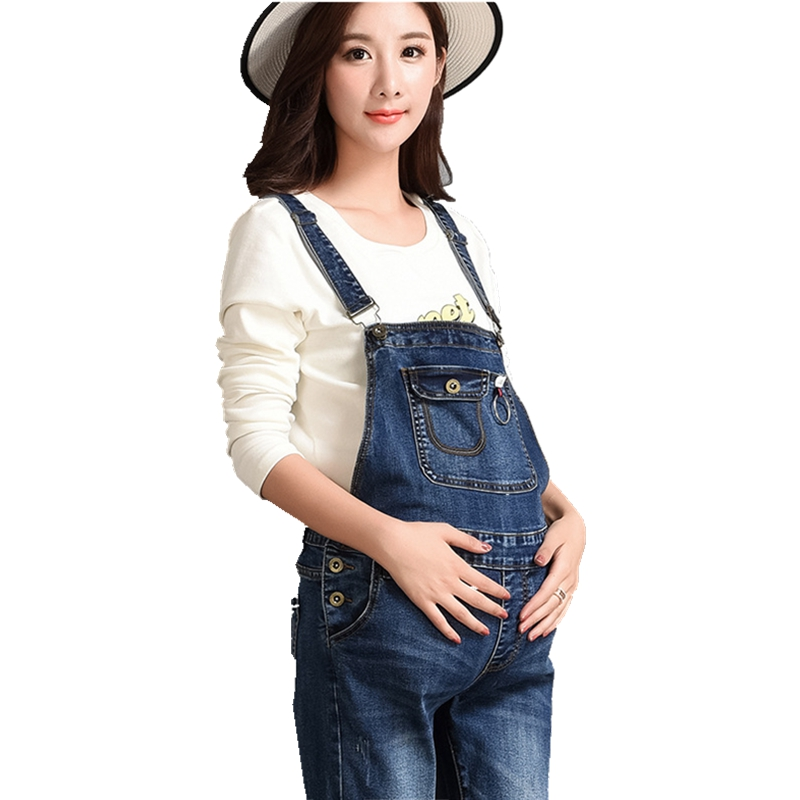 Pregnant women dresses Comfortable pregnant Belt pants Jeans Womens bibs Work clothes