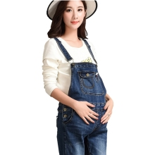 Pregnant women dresses Comfortable pregnant Belt pants Jeans Womens bibs Work clothes